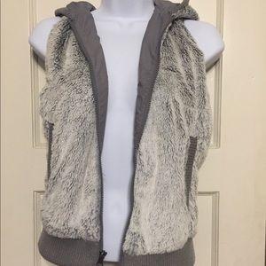 Patagonia Faux Fur Vest with Hoodie